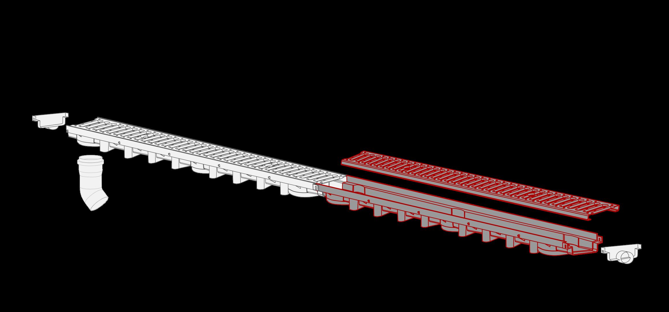 System 1000x63 kanal z krata