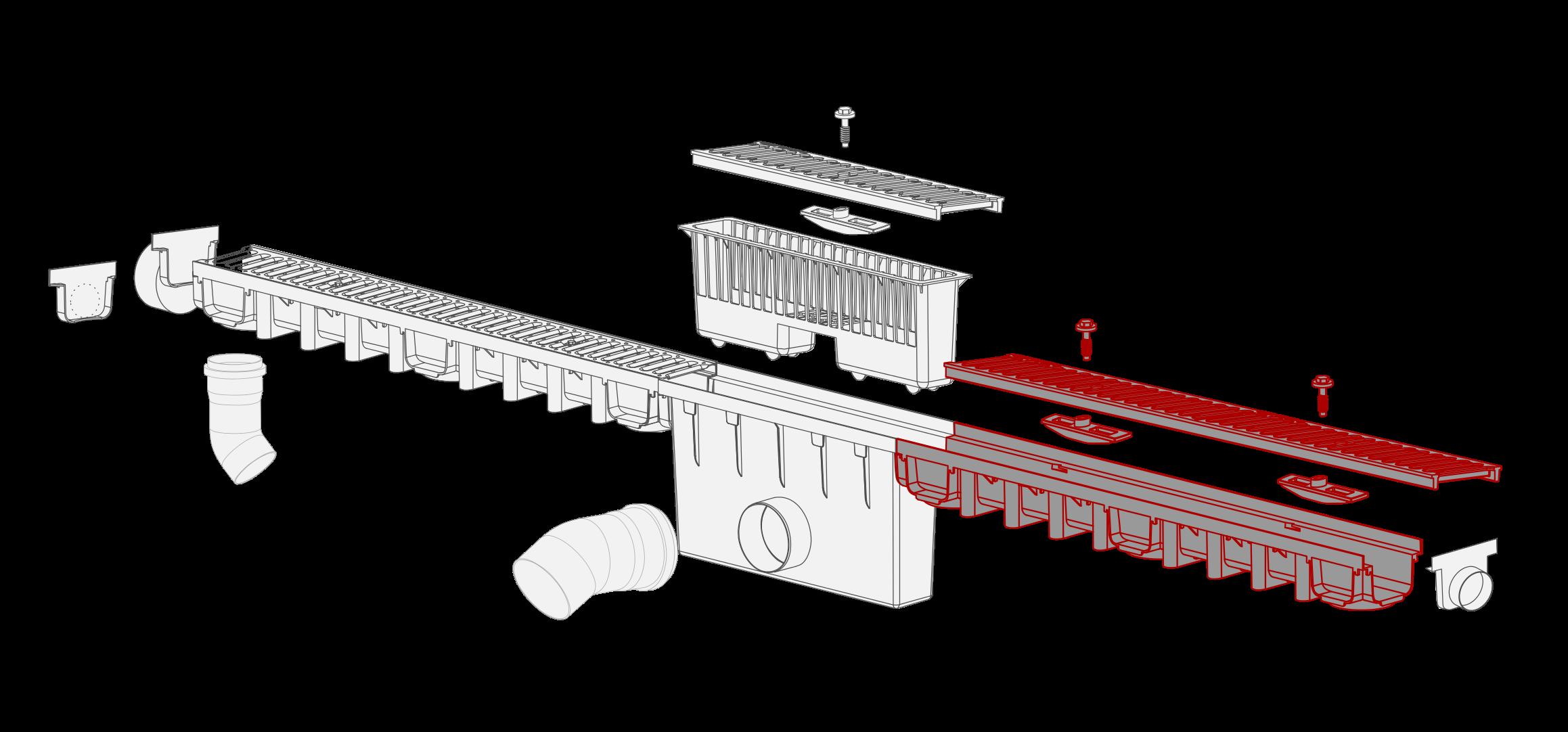 System 1000x98 kanal z krata