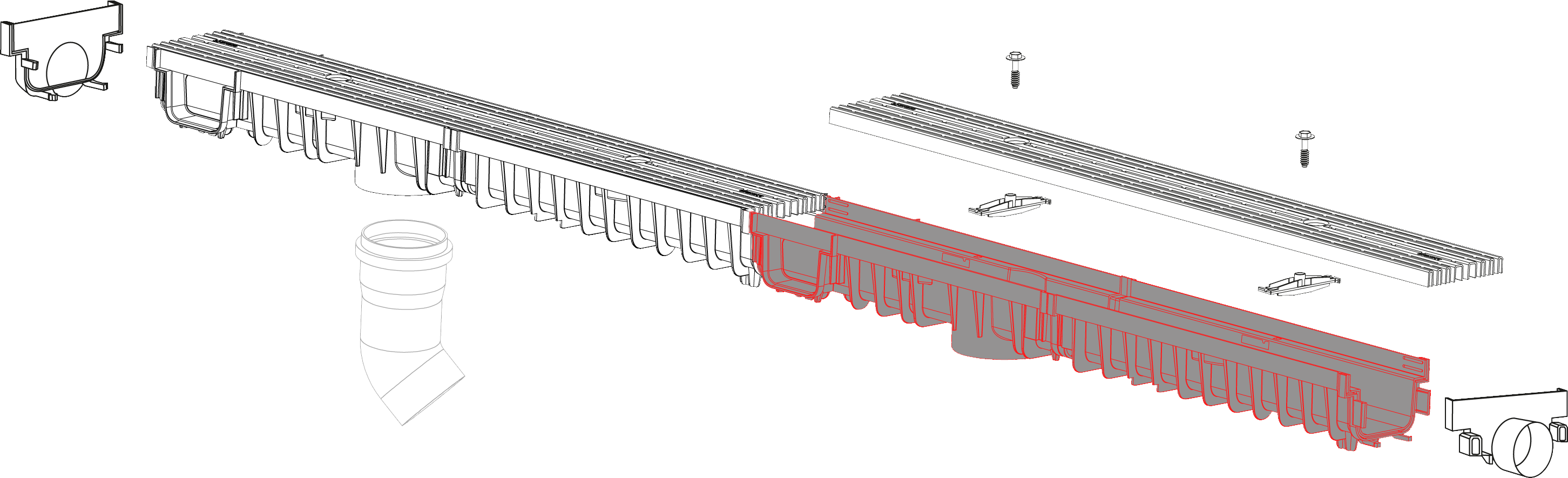 System 1000x70 kanal