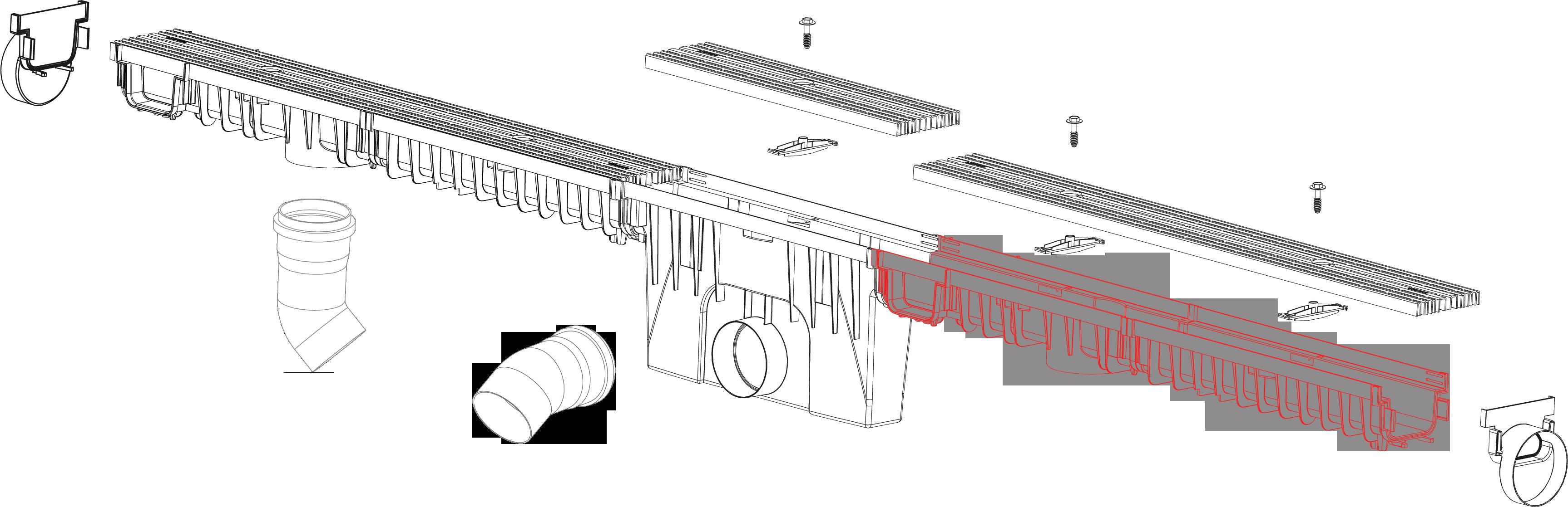 System 1000x150 kanal